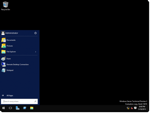 Windows Server 2016 - GUI Desktop