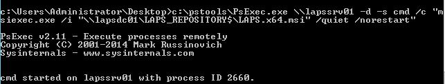 Run an MSI with PSExec