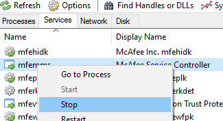 mcafee-client-proxy_mcpservice.exe_2.3.0.0_process-hacker-stop-mfemms