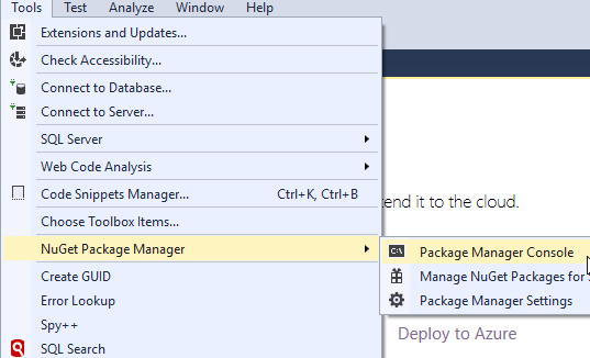 visual-studio-Package-Manager-Console