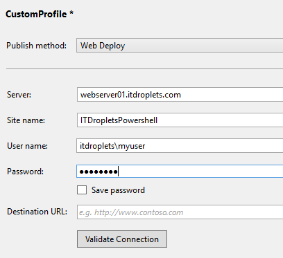 visual-studio-publish-custom-profile